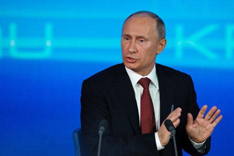 La première année du troisième mandat de M.Poutine a été riche en événements médiatisés. Crédit : Itar-Tass