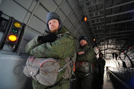 Les projets de créer des églises mobiles pour les troupes aéroportées avaient été annoncés pour la première fois en mars 2012. Crédit : Itar-Tass