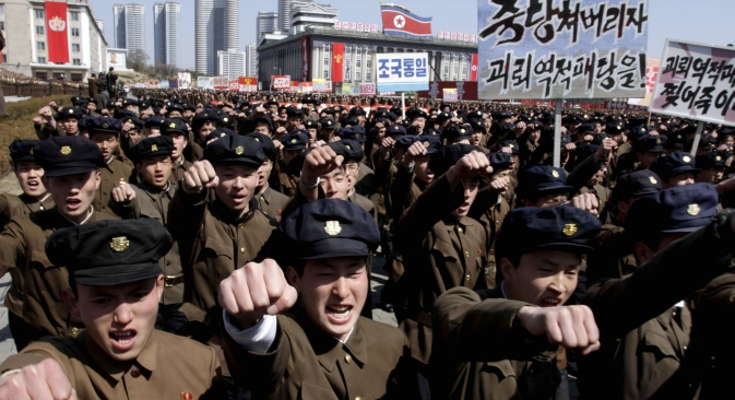 La possession de missiles nucléaires change fondamentalement la position de la Corée du Nord sur la scène internationale. Crédit : AP