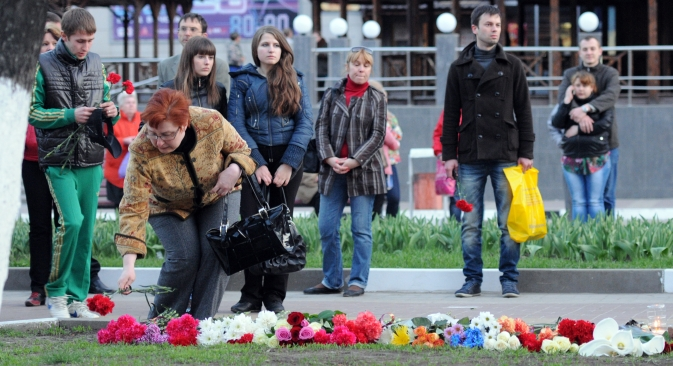 Lundi 22 avril, un homme a tué six personnes lors d'une tentative de braquage d'un magasin d'armes à Belgorod. Crédit : RIA Novosti