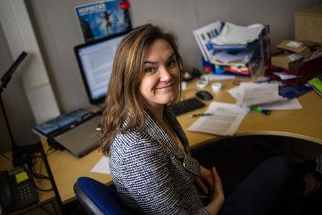 """Nina Meldahl : """"En Russie, j'apprends non pas pendant les cours, mais en discutant avec les gens, en observant leurs réactions"""". Crédit : Alexandre Outkine / RIA Novosti"""