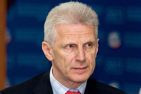 Selon Alexeï Makarkine, Andreï Foursenko est l'homme de Vladimir Poutine, sa nomination montrant que le président prend Skolkovo sous son contrôle par le biais d'un assistant. Crédit : Itar-Tass