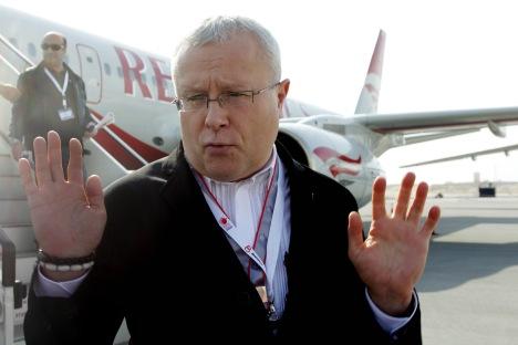Ancien propriétaire de Red Wings Alexandre Lebedev, qui possède également The Evening Standard et The Independent, deux journaux britanniques. Crédit : Itar-Tass