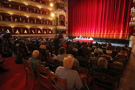 Le Bolchoï réalise la diffusion des ballets dans les salles de cinéma à l'étranger depuis trois ans. Ces spectacles connaissent un franc succès. Crédit : Itar-Tass