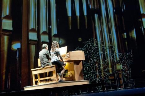"""Vor Kurzem wurde die neue Orgel des deutschen Herstellers """"Glatter-Goetz"""" auf der großen Bühne des Bolschoi-Theaters der Öffentlichkeit präsentiert. Foto: ITAR-TASS"""