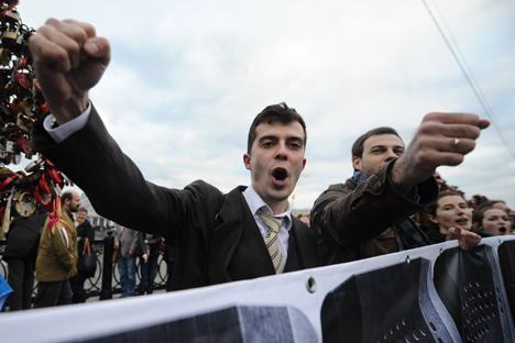 L'opposition russe a organisé un rassemblement le 6 mai consacré aux événements d'il y a un an, la manifestation de la place Bolotnaïa. Crédit : Itar-Tass