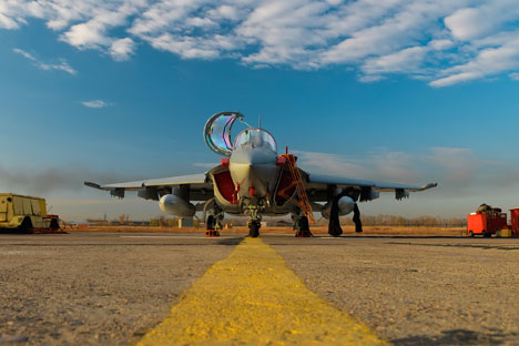 Le biplace d'entraînement Yak-130. Source : Service de Presse