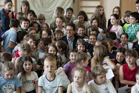 Invité à l'occasion des festivités pour les 40 ans de l'école, Capello a raconté aux jeunes ses débuts à la Spal. Crédit : Kirill Lagoutko