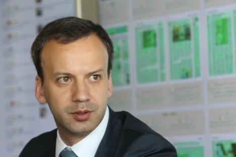 "Arkadi Dvorkovitch : ""Seul celui qui ne fait rien n'est pas critiqué"". Crédit : Rossiyskaya Gazeta"