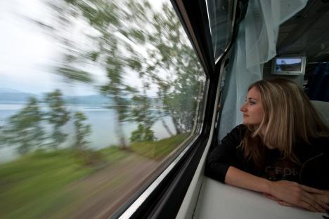 Le trajet Moscou - Saint-Pétersbourg devrait prendre deux à deux heures et demi. Crédit : DPA / Vostock Photo