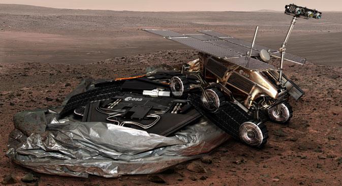 Les Russes sont en effet associés au projet européen ExoMars. Crédit photo : ESA