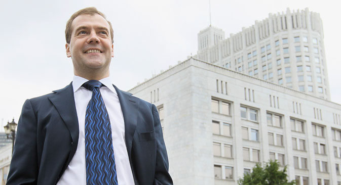 Medvedev a reconnu que sa première année en tant que Premier ministre n'avait pas été facile. Сrédit : Reuters