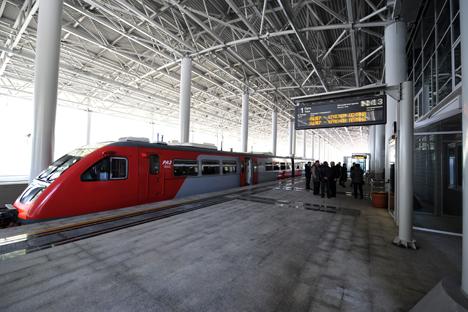 Die Investitionen in das Projekt der neuen Hochgeschwindigkeitsbahnstrecke würden laut Bahn-Chef Jakunin rund 23,2 Milliarden Euro betragen. Foto: ITAR-TASS