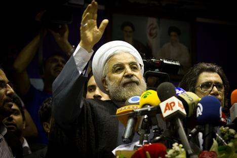 C'est le conservateur modéré Hassan Rohani qui a remporté le scrutin dès le premier tour. Crédit : Photoshot