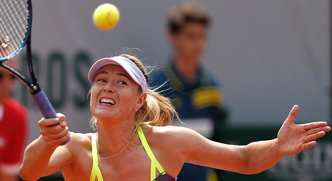 En finale, Sharapova n'a pas réussi à profiter pleinement des erreurs de l'adversaire, et Maria a elle-même commis des fautes directes. Crédit : AP