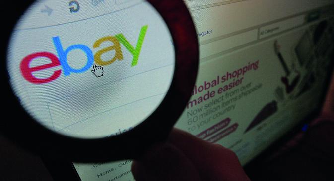 En avril de cette année, le leader mondial des enchères en ligne eBay.com est devenu disponible en langue russe. Crédit : Kommersant