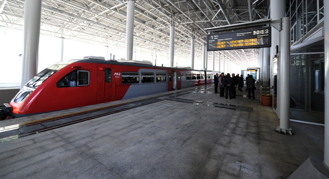 La Russie fait le choix de la grande vitesse ferroviaire en prévision du Mondial 2018. Crédit : Itar-Tass