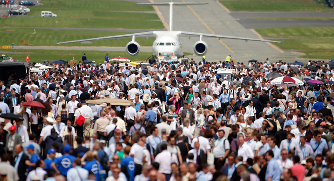 L'industrie aéronautique russe a épaté le public du salon de l'aéronautique du Bourget 2013. Crédit : AP