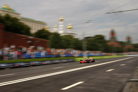 La course Moscow City Racing 2012 Crédit : AP