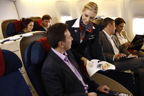 Internet haut-débit et téléphonie mobile seront bientôt disponibles sur tous les vols de Transaero. Crédit : Service de presse