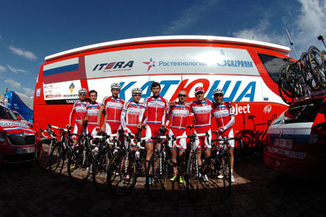 Katusha is now competing in the Tour de France race, which concludes on July 21. Source: Legion Media
