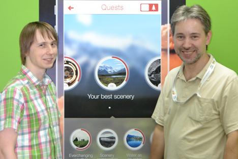 Dimitri Smetanine et Mikhaïl Asavkine, les futurs créateurs de l'application. Source : service de presse
