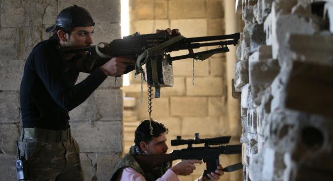 Défenseur de l'indépendance de la Tchétchénie, Oussman Ferzaouli, a confirmé au journal Kommersant que des combattants tchétchènes font la guerre du côté de l'opposition syrienne. Crédit : AP