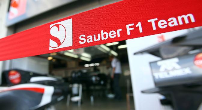 A partir de l'année prochaine, l'équipe de Formule 1 Sauber pourra établir un contact étroit avec trois sociétés russes. Crédit : Photoshot