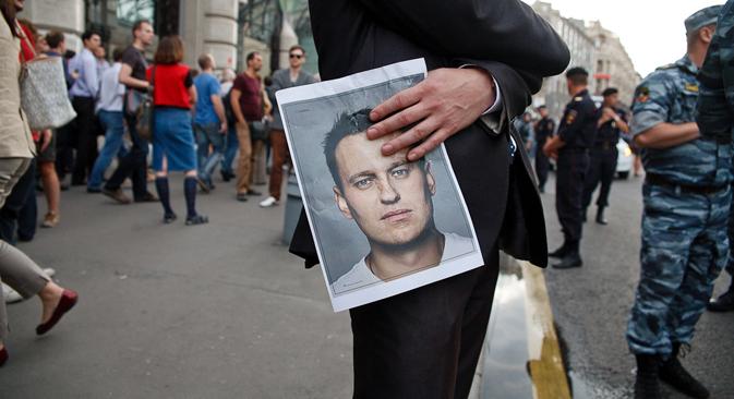 Le 18 juillet, les Moscovites sont déscendus dans la rue pour soutenir Alexeï Navalny. Crédit : Rouslan Soukhouchine