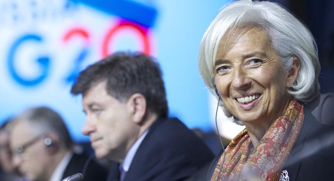 La directrice du fonds monétaire international Christine Lagarde. Source : AP