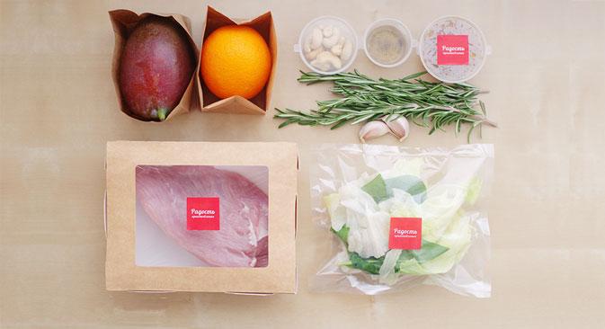 Actuellement, « Radost prigotovlenia » propose des kits pour la préparation de plats asiatiques, européens et sud-américains. Source : poradovat.ru