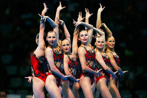 Les nageuses russes, championnes du monde. Crédit : Reuters