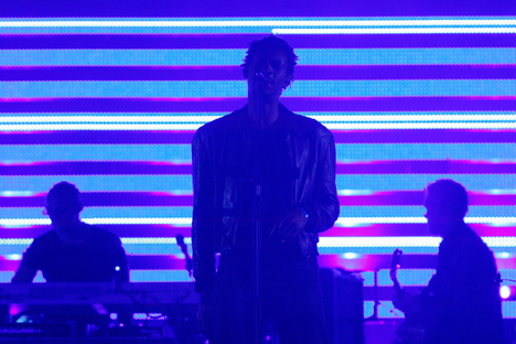 "At the recent Mayfield Depot Festival in Machester British group Massive Attack made a performance titled ""Everything Goes According To Plan"", which is a reference to Egor Letov's most famous song. Source: Reuters"