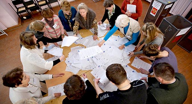 Cette année, pour les élections du maire de la capitale russe, 3 411 bureaux de vote fonctionneront. Crédit : Pavel Lissitsyne/RIA Novosti