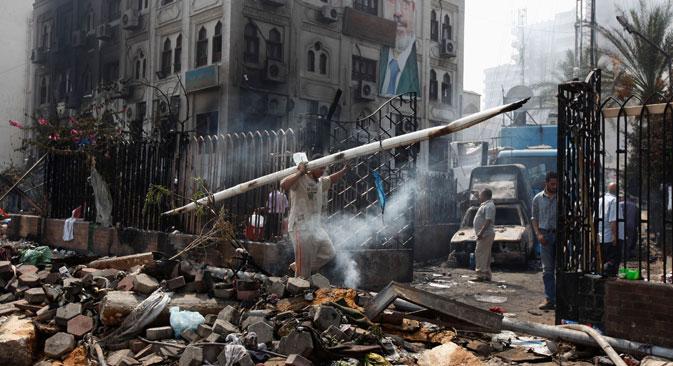 L'envergure et la violence des affrontements au Caire font, de nouveau, craindre le début d'une véritable guerre civile en Egypte. Crédit : Reuters