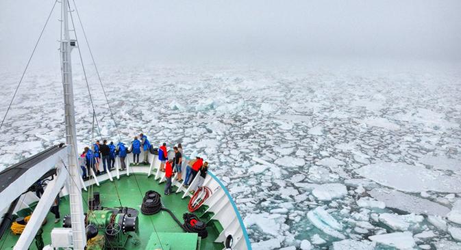 Le projet suscite l'intérêt de plusieurs États, dont principalement les pays scandinaves ainsi que l'Allemagne, le Canada et les États-Unis – toutes les contrées qui attachent une importance particulière aux études de l'Arctique. Source : arkhangelsk.rgo.ru