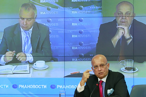 Sergei Karaganov opened the first session by introducing questions that are crucial for Russia's future. Source: RIA Novosti