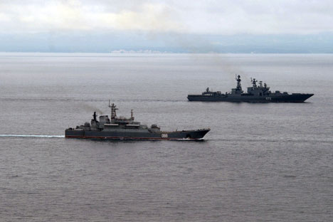 The foreign partner will supply Russia with dissembled parts of the units, and, in Russia, they will not only be assembled but also equipped with Russian instruments, connected to the control system (domestic know-how) and installed on the searcher ship. Source: Alexei Nikolsky / RIA Novosti