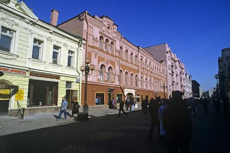 L'Arbat aujourd'hui c'est la possibilité de se plonger dans l'esprit créatif du vieux Moscou. Crédit : Alexandre Poliakov/RIA Novosti