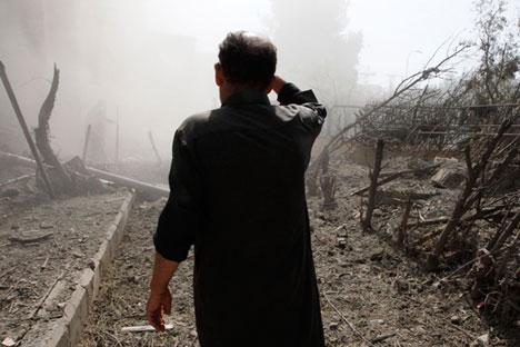 La Russie  sensibilise de plus en plus l'opinion publique aux atrocités commises par les rebelles. Crédit : Reuters