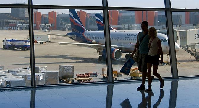 Turisti in aeroporto