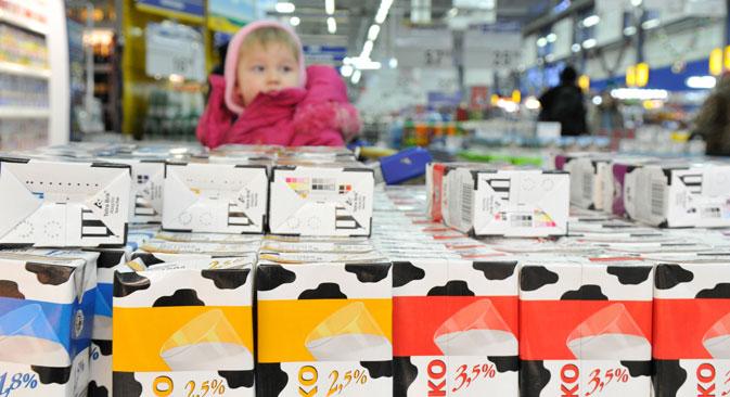 Plus de 75% des consommateurs russes interrogés ont dit avoir acheté un produit dont l'emballage était respectueux de l'environnement. Mikhaïl Mordassov/RIA Novosti