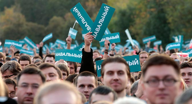 La police moscovite a estimé à 9.000 le nombre de participants de la manifestation du 9 septembre. Crédit : Reuters