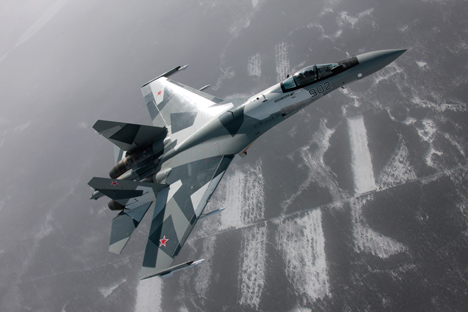 La vitesse maximale du Su-35S atteint 2.400 km/h. Source : sukhoi.org