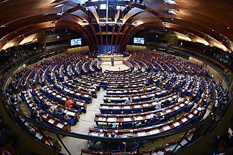 La grande victoire pour les Russes a été l'adoption par l'APCE de la résolution sur la Syrie, votée à l'unanimité, ce qui arrive rarement. Crédit : DPA/Vostock-Photo