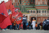 flamme olympique à Moscou