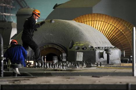 La construction d'une centrale nucléaire à Kaliningrad. Crédit photo : AFP/eastnews