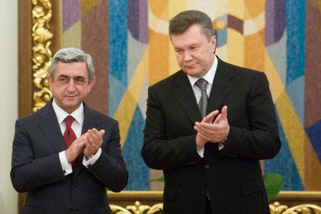 La guerre commerciale et le ton agressif de la diplomatie russe ont poussé l'opinion publique ukrainienne dans les bras de l'Europe. Crédit photo : PhotoXpress