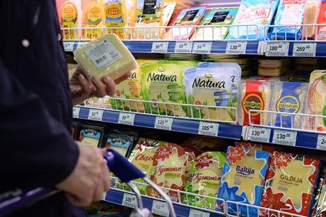Le second conflit impliquant la Lituanie a éclaté suite à l'embargo de septembre sur les produits laitiers en raison de leur teneur en antibiotiques. Crédit photo : Maxim Blinov / RIA Novosti