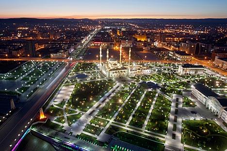 La capitale de la Tchétchénie Grozny. Crédit: Reuters